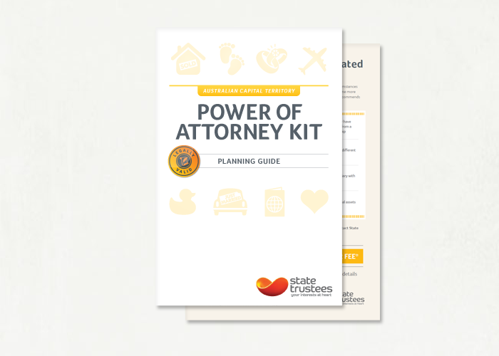 Enduring Power Of Attorney Form Kit State Trustees Vic