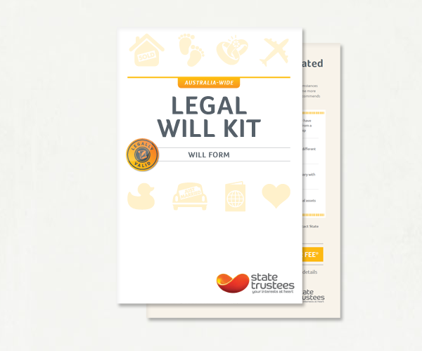 Buy an australian legal will kit online state trustees vic for Free australian will template