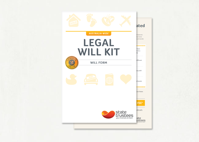 Buy an australian legal will kit online state trustees vic will kit solutioingenieria Choice Image